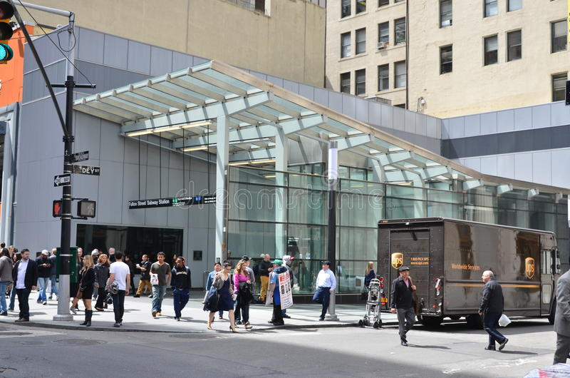 Fulton Street Subway Station fotos de stock