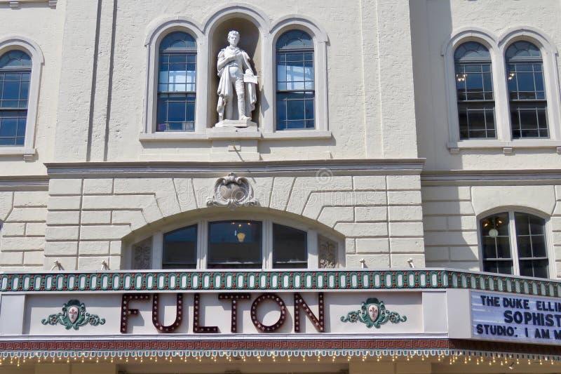 Fulton Theatre, lokalizowa? w w centrum Lancaster, PA zdjęcie stock
