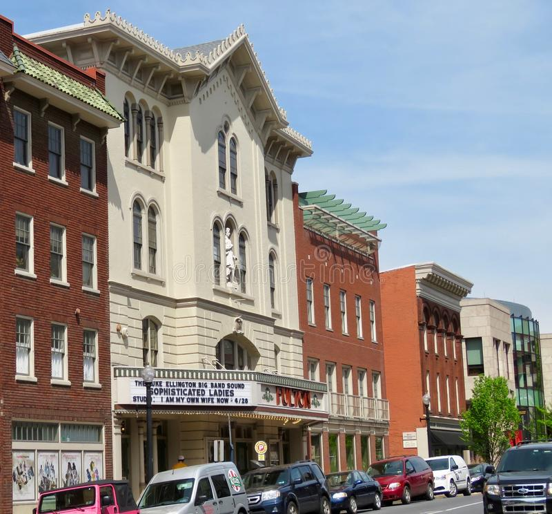 Fulton Theatre, lokalizowa? w w centrum Lancaster, PA obraz stock
