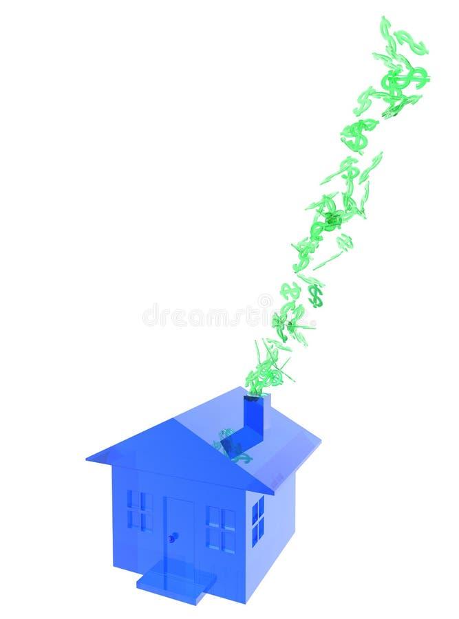 fumée à la maison rentrante vers le haut de valeur illustration libre de droits