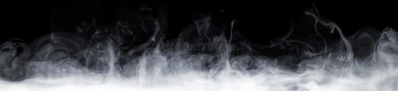 Fumée abstraite dans l'obscurité photo libre de droits