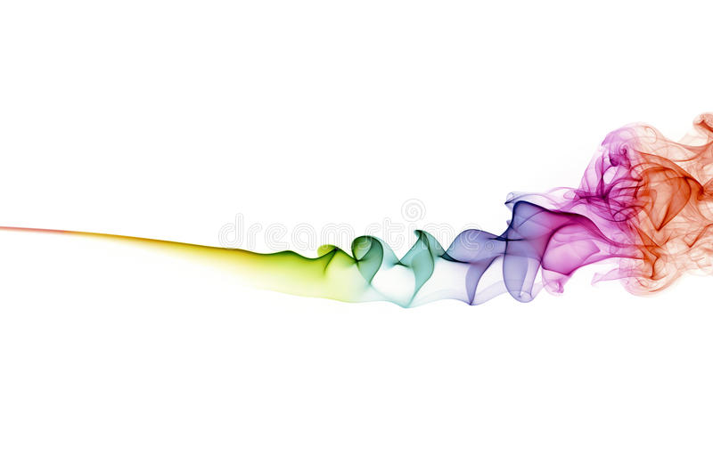 Fumée abstraite de couleur sur le fond blanc photo libre de droits