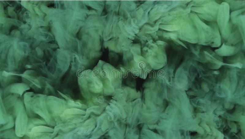 fumée abstraite de vert de fond illustration stock
