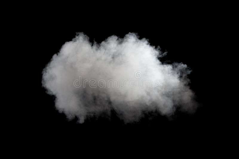 Fumée blanche sur le fond noir photo stock