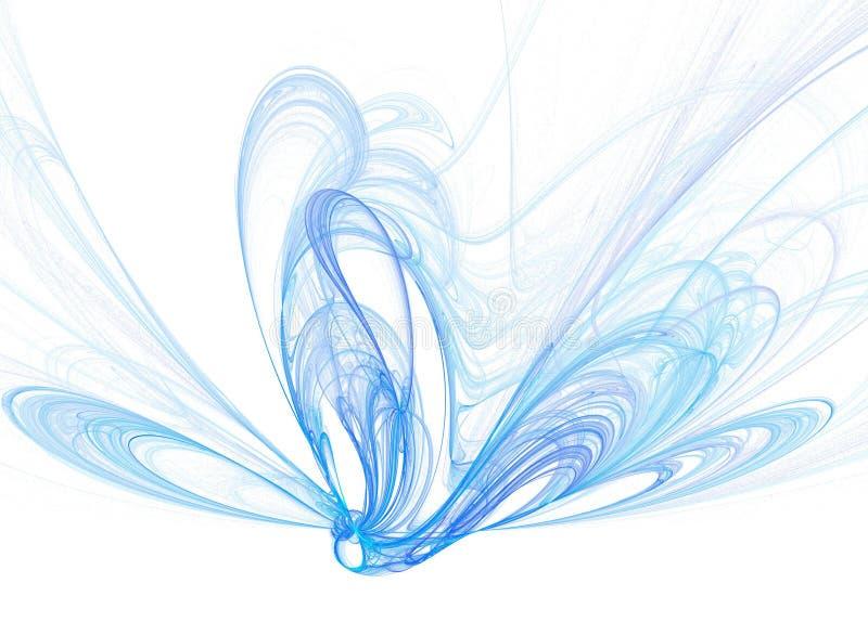 Fumée bleue illustration libre de droits