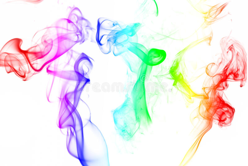 Fumée colorée photos libres de droits