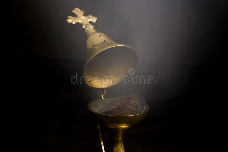 Fumée d'encens photos stock