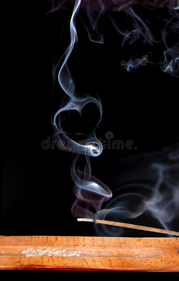 Fumée d'encens images libres de droits