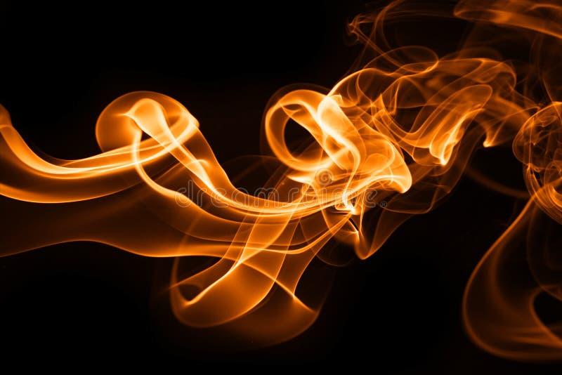 fumée d'incendie illustration stock