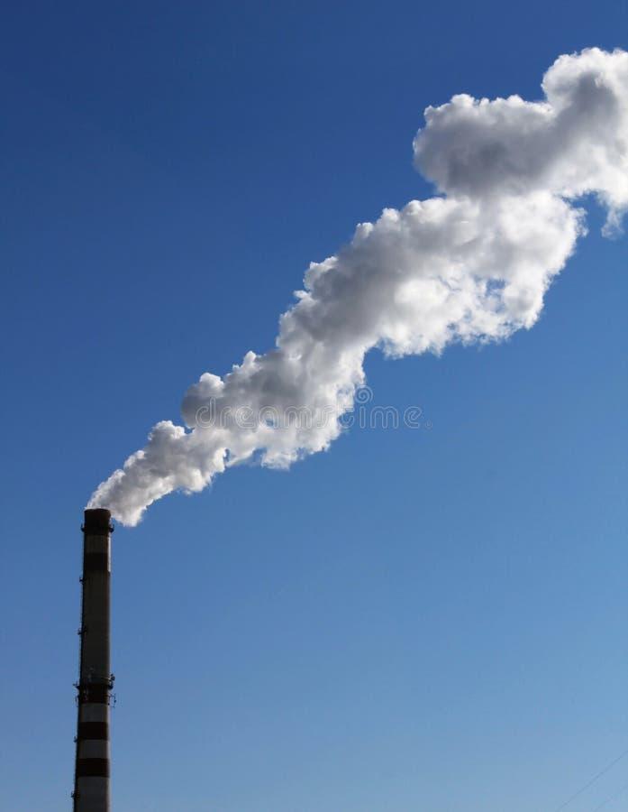 Fumée d'une pipe photographie stock