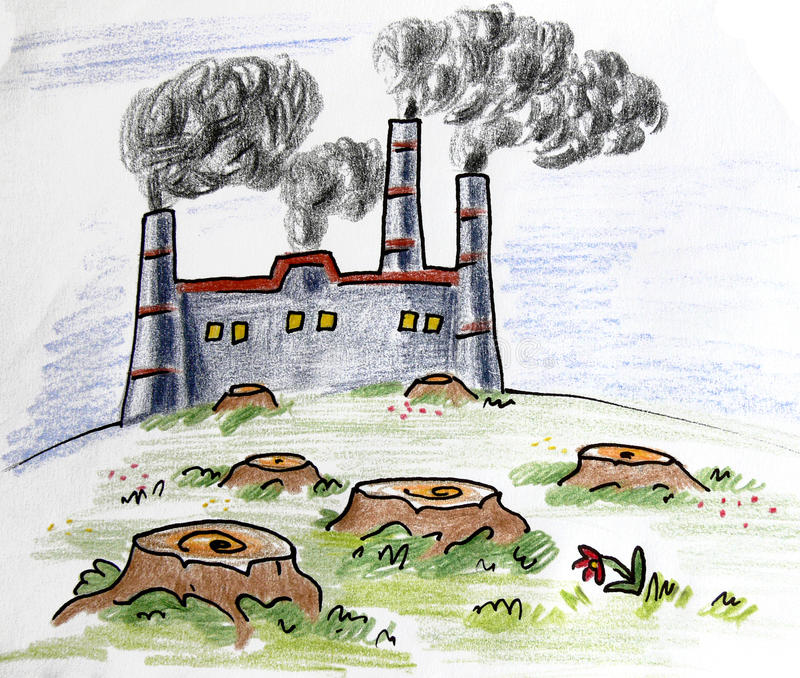 Fumée d'usine images stock
