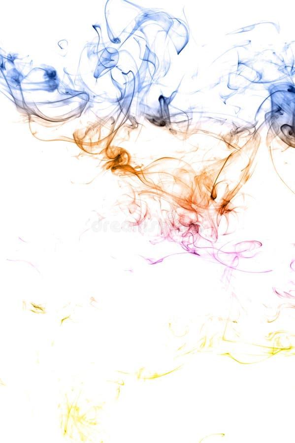 Fumée de couleur d'isolement image libre de droits