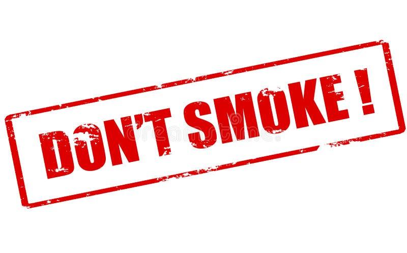 Fumée de Don t illustration de vecteur