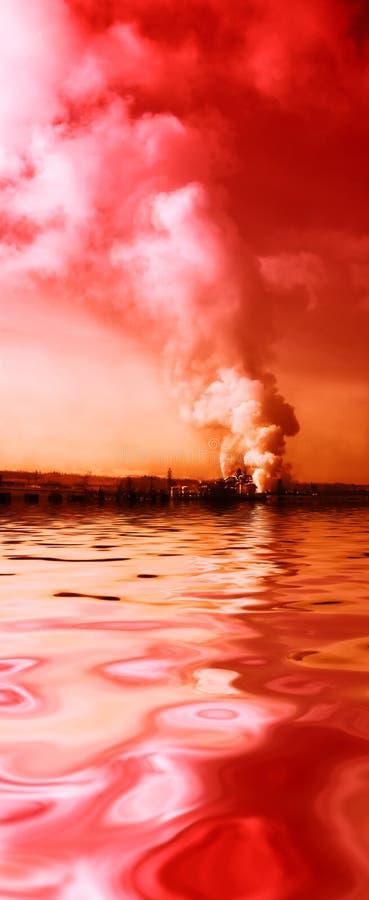 Fumée de pollution photo libre de droits
