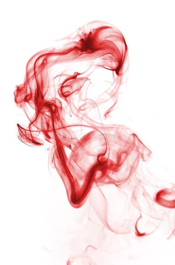 fumée de rouge de sang images stock