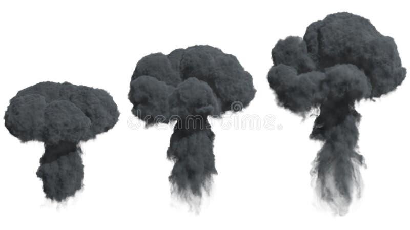 Fumée dense noire illustration libre de droits