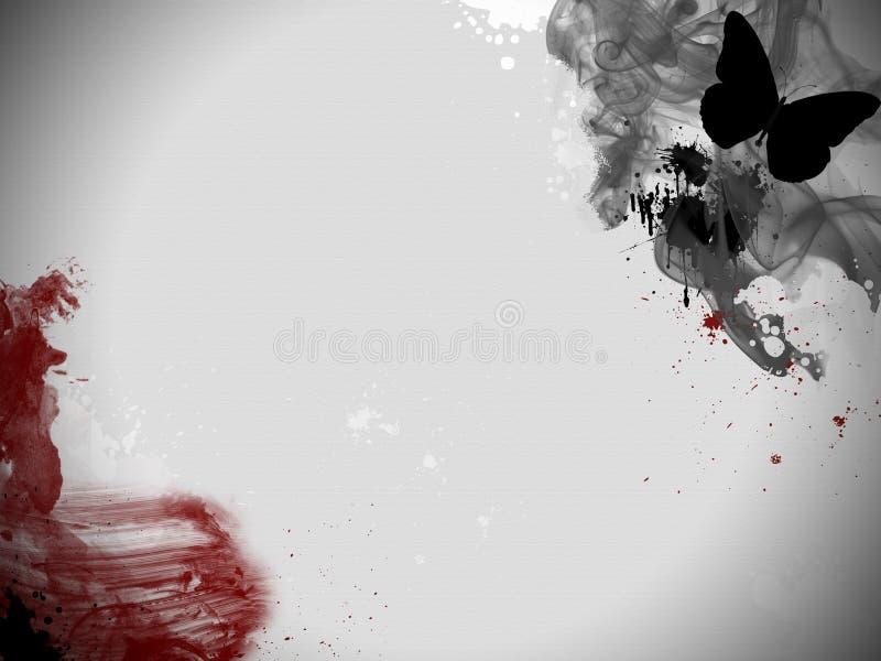 Fumée et sang. illustration stock