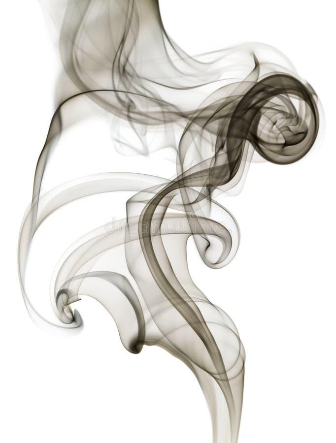 Fumée foncée Wispy photos libres de droits