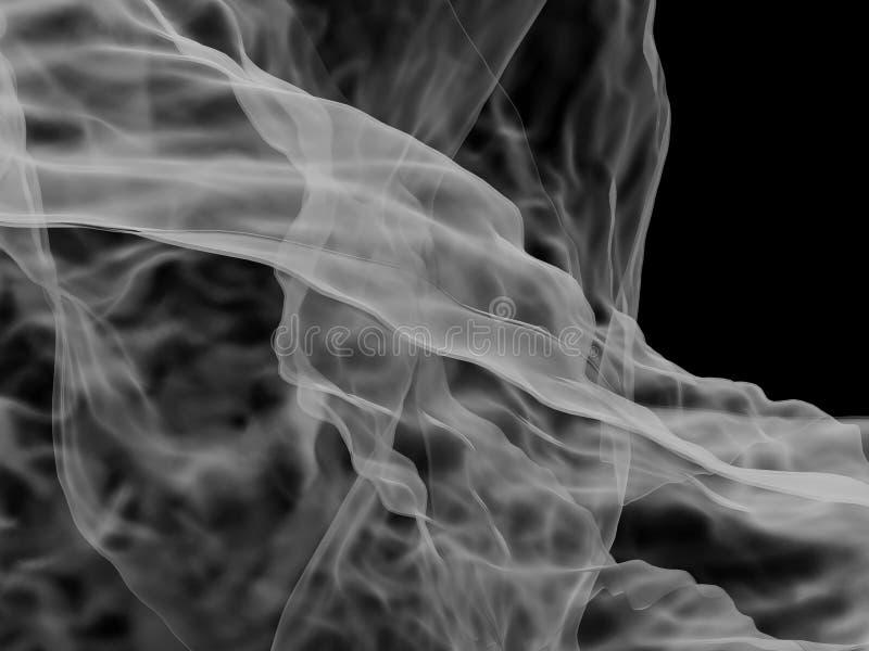 Fumée grise illustration de vecteur