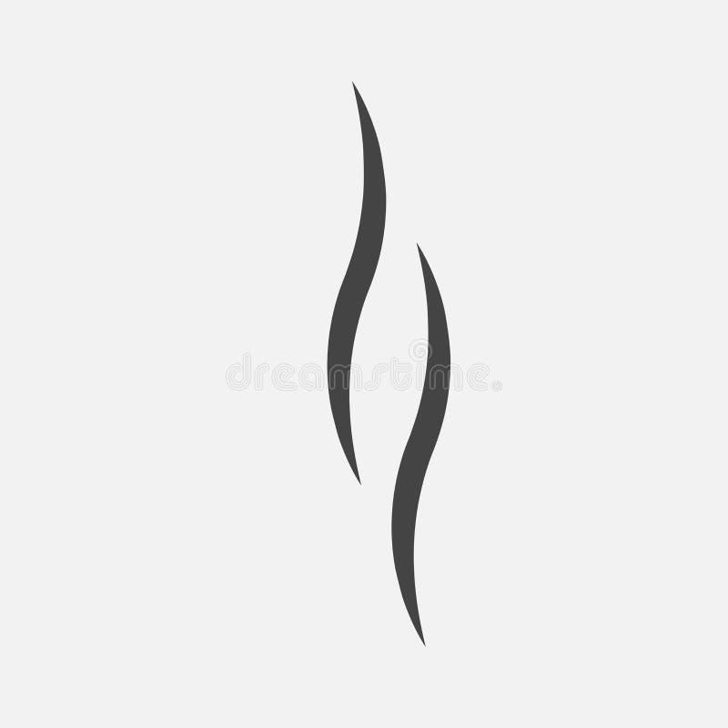 Fumée, icône de vecteur illustration stock