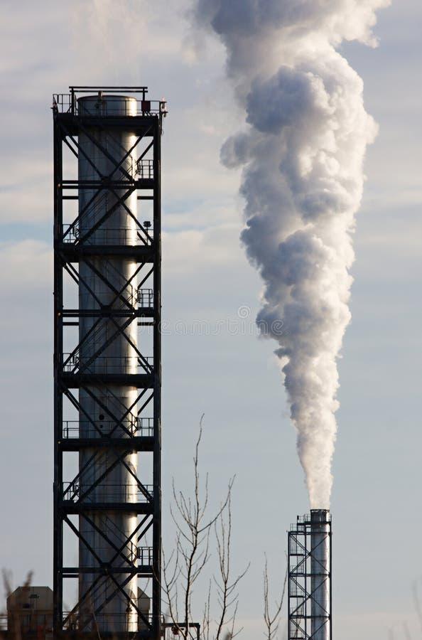 Fumée industrielle image stock