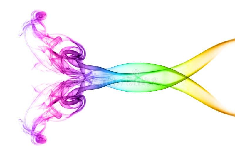 fumée multicolore abstraite illustration de vecteur