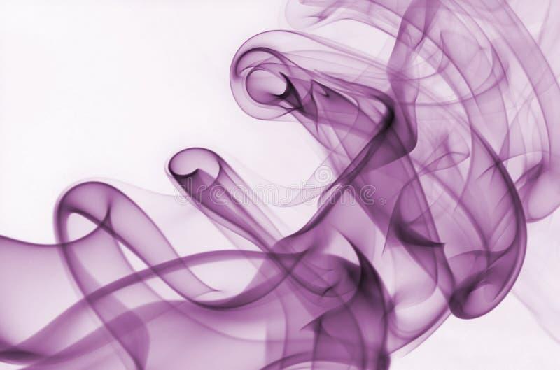 Fumée pourprée photographie stock
