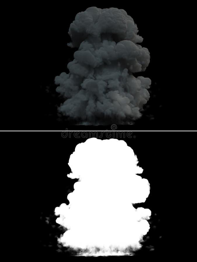 Fumée réaliste d'explosion de bombe image libre de droits
