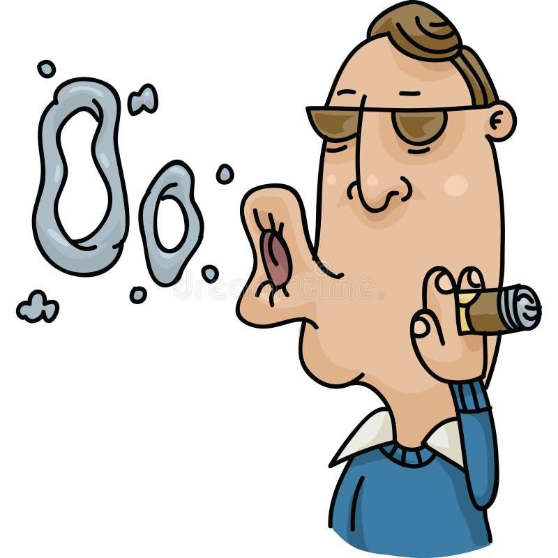 Fumée Ring Blower illustration de vecteur
