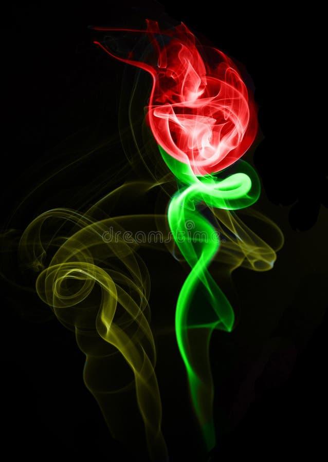Fumée rouge Rose images libres de droits