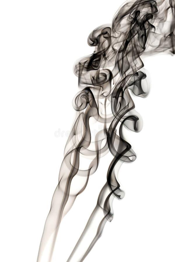 Fumée sur le blanc image stock