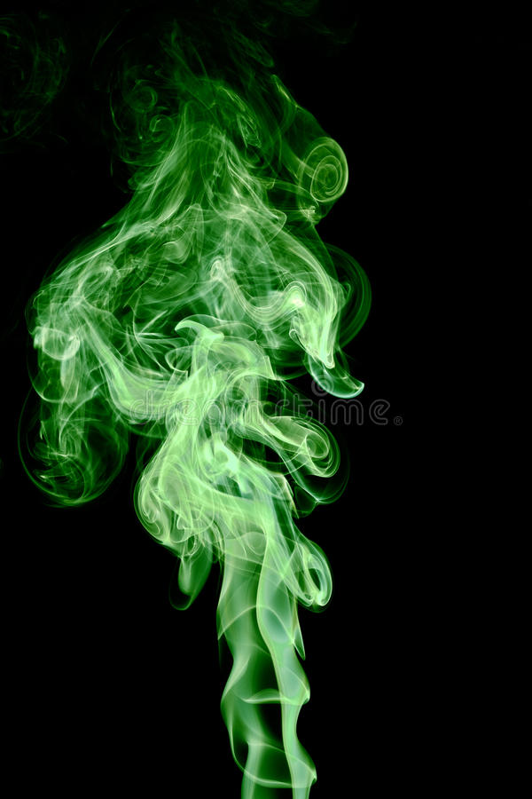 Fumée verte images stock