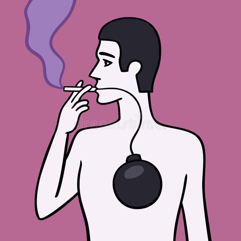 Fumador. ilustração royalty free