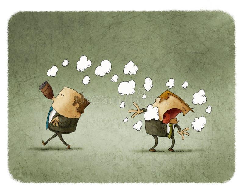 Fumador passivo ilustração stock