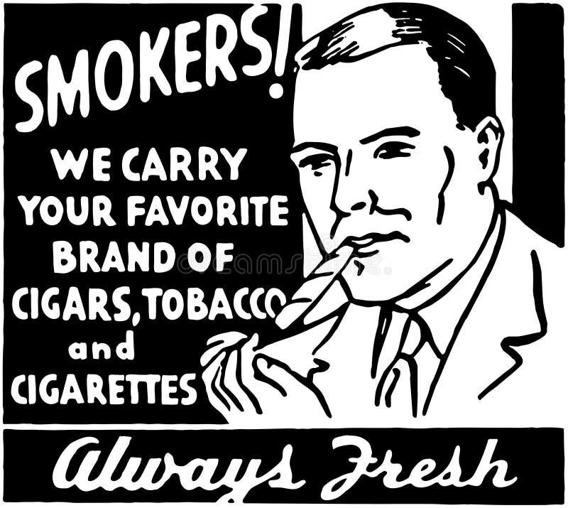 fumadores ilustración del vector