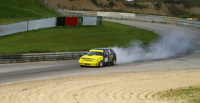 Fumage racecar photo libre de droits