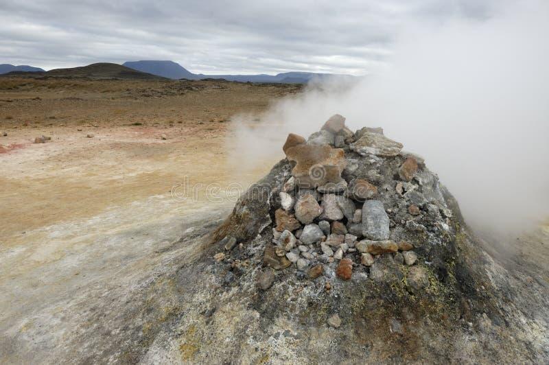 fumarole Исландия вулканическая стоковые фотографии rf