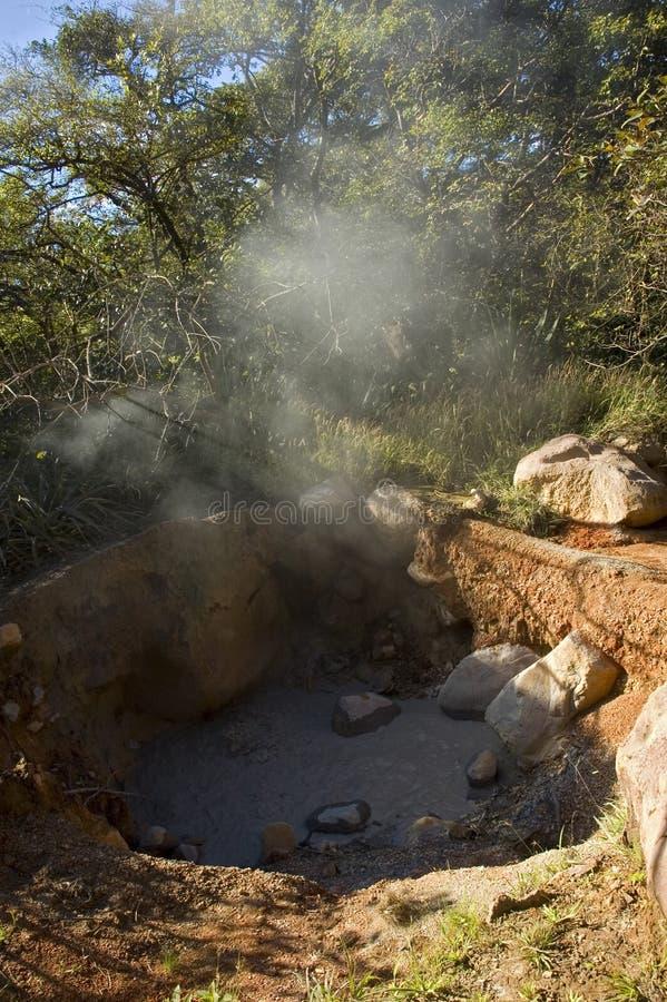 Fumarole bei Rincon de la Vieja Volcano. lizenzfreies stockbild