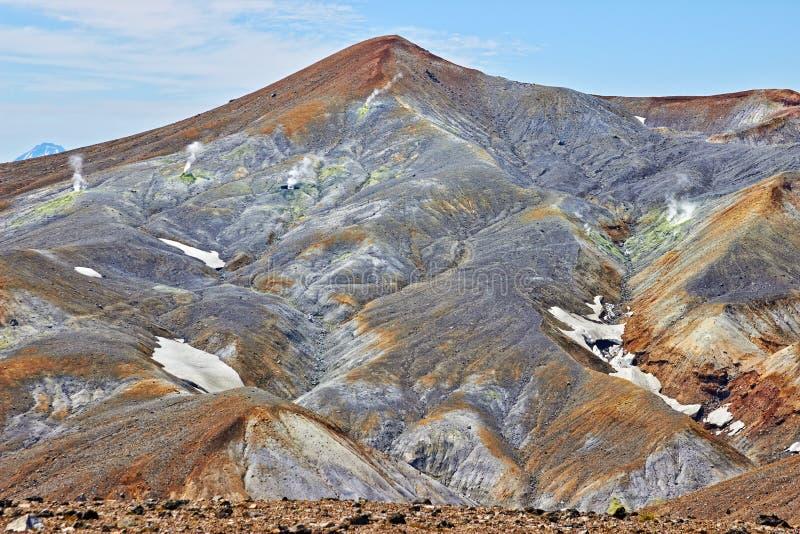 Fumarolefält i Volcano Caldera royaltyfri foto