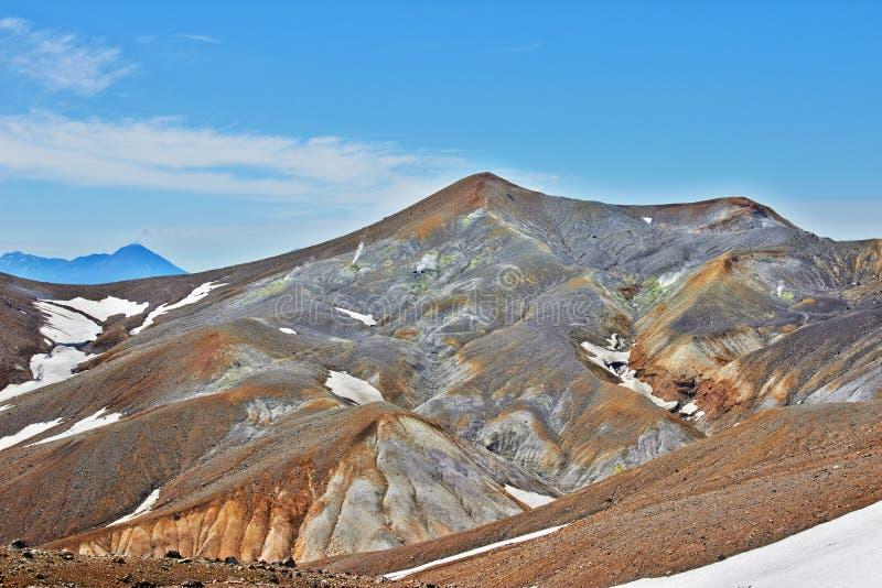 Fumarolefält i Volcano Caldera royaltyfri fotografi