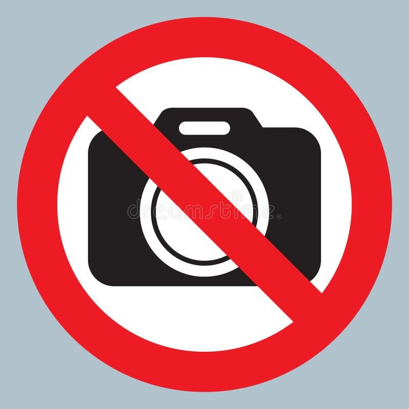 Fume as câmeras do illustrationNo do vetor do ícone do sopro permitidas o sinal Proibição vermelha nenhum sinal da câmera Nenhuma ilustração do vetor