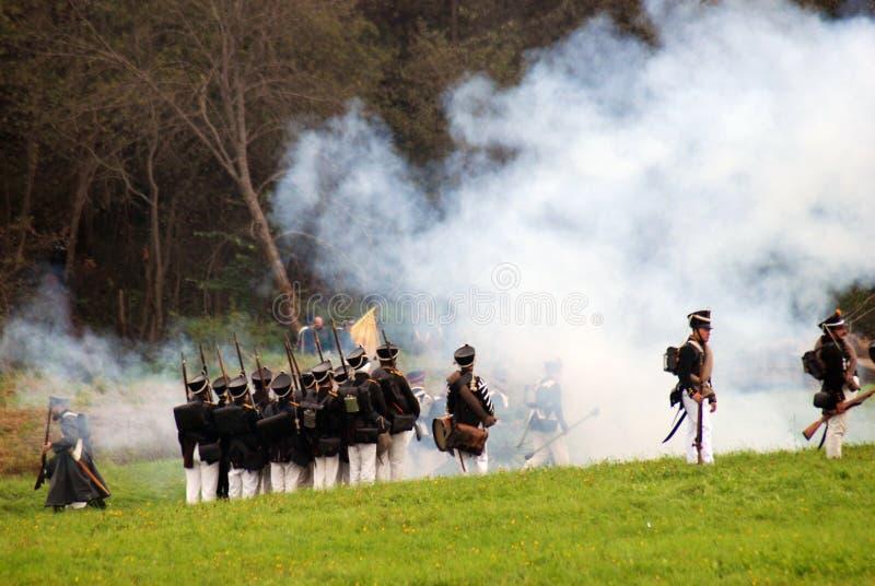 Fume on the battlefield stock photos