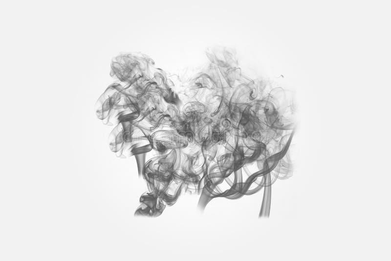 Fume el arte abstracto del fondo imagenes de archivo