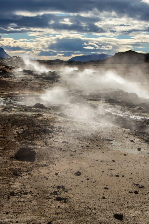 Fumerolle à secteur géothermique/volcanique photo stock