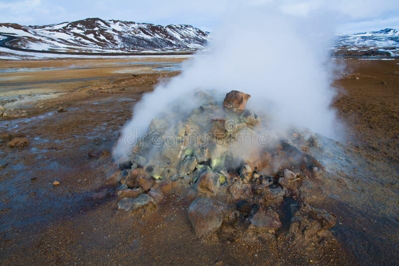Fumerolle Islande photo libre de droits