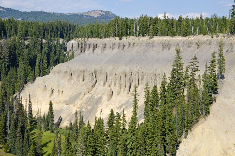 Fumerolles fossiles du stationnement national Etats-Unis de lac crater photo libre de droits
