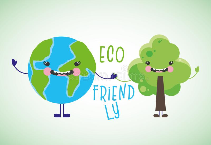Fumetti amichevoli di Eco illustrazione di stock