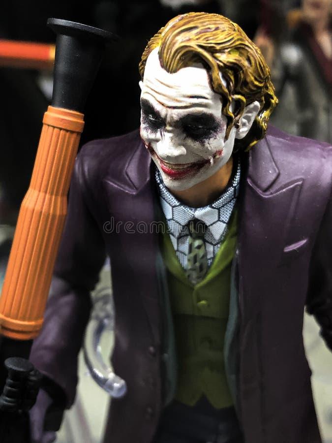 Fumetti BATMAN di CC la figura di Dark Knight Joker fotografia stock libera da diritti
