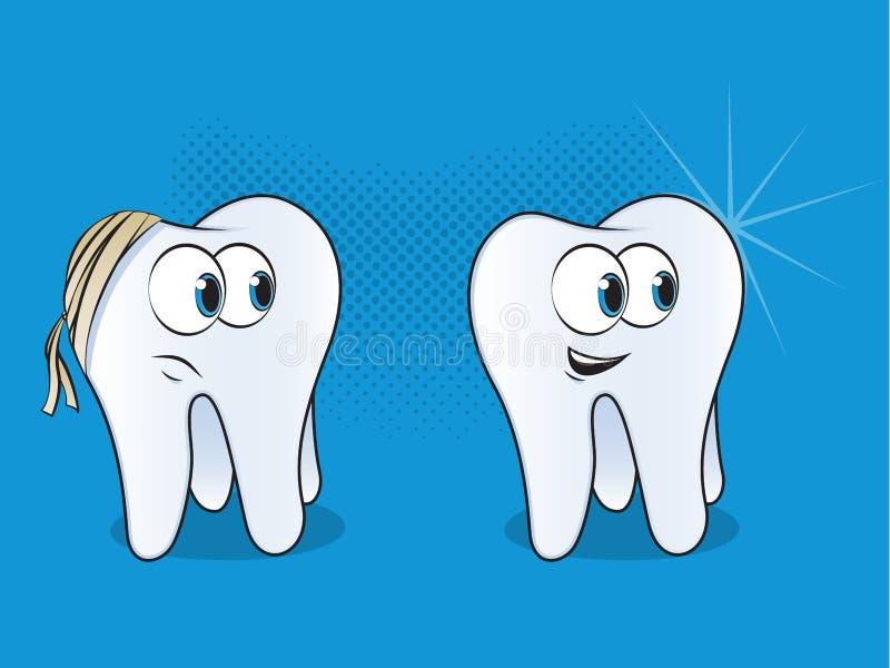 Fumetti del dente illustrazione vettoriale