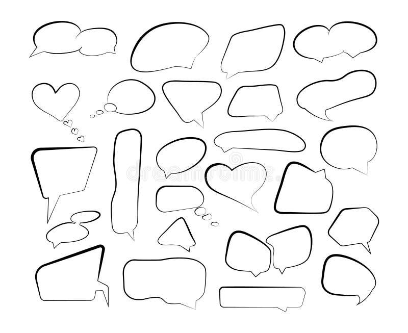 Fumetti del profilo Metta la bolla disegnata a mano dello scarabocchio di schizzo del fumetto di scarabocchio royalty illustrazione gratis